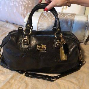 Coach Madison Black Satchel Style Handbag